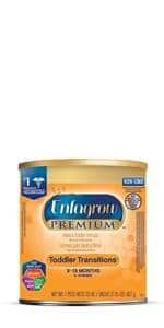 Enfagrow PREMIUM Toddler Transitions Formula Powder, 20 Ounce Can, Pack of 4 $38.98 with Amazon SS and clip coupon