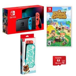 Nintendo Switch Bundle with Animal Crossing Game $409.99