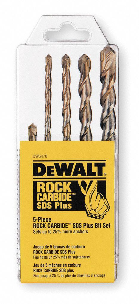 DEWALT 5-Piece x Sds-plus Hammer Drill Masonry Drill Bit for Concrete on Clearance for $7.49 YMMV