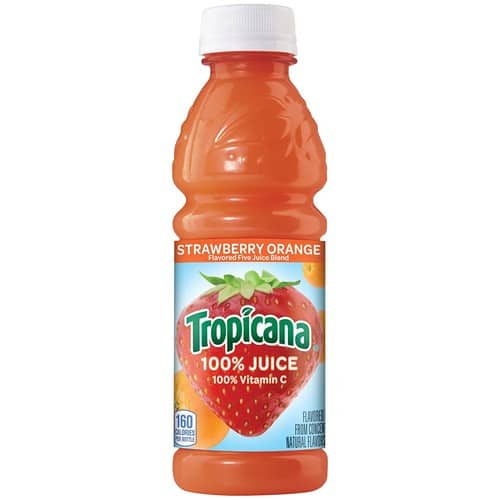 Amazon.com - Tropicana Juice 10 oz Pack of 15 (Fruin Medley, Strawberry Kiwi, or Strawberry Orange Juice)  $11.25 or $9.75 w/ S&S