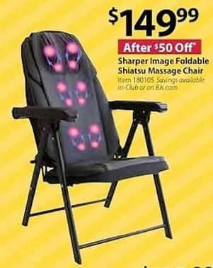 Bjs Wholesale Black Friday Sharper Image Foldable Shiatsu Massage