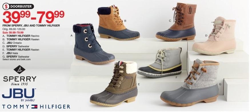Belk Black Friday  Select Designer Boots from Sperry, JBU and Tommy Hilfiger  for  39.99 b68ceb41ec0f