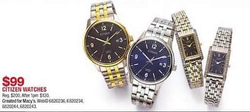 Macy S Black Friday Citizen Watches For 99 00 Slickdeals Net