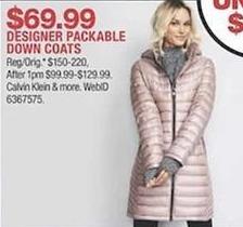 a737d84af Macy's Black Friday: Designer Packable Down Coats from Calvin Klein ...