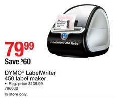 staples black friday dymo labelwriter 450 label maker for 79 99
