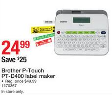 staples black friday brother p touch pt d400 label maker for 24 99