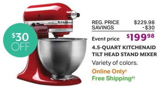 Miraculous Sams Club Black Friday 4 5 Quart Kitchenaid Tilt Head Home Interior And Landscaping Analalmasignezvosmurscom
