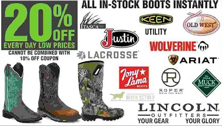 a58c0850982 Rural King Black Friday: All In-Stock Boots - 20% Off - Slickdeals.net