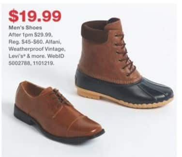 Macy's Black Friday: Men's Shoes for $19.99