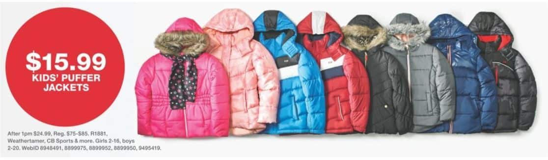 Macy's Black Friday: Kids' Puffer Jackets for $15.99