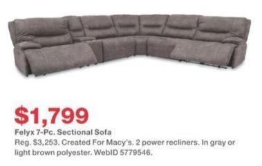 Swell Macys Black Friday Felyx 7 Pc Sectional Sofa For Ibusinesslaw Wood Chair Design Ideas Ibusinesslaworg