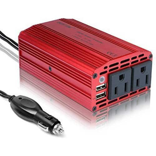 BESTEK 300W Power Inverter DC 12V to 110V AC Car Inverter with 4.2A Dual USB Car Adapter $20.99