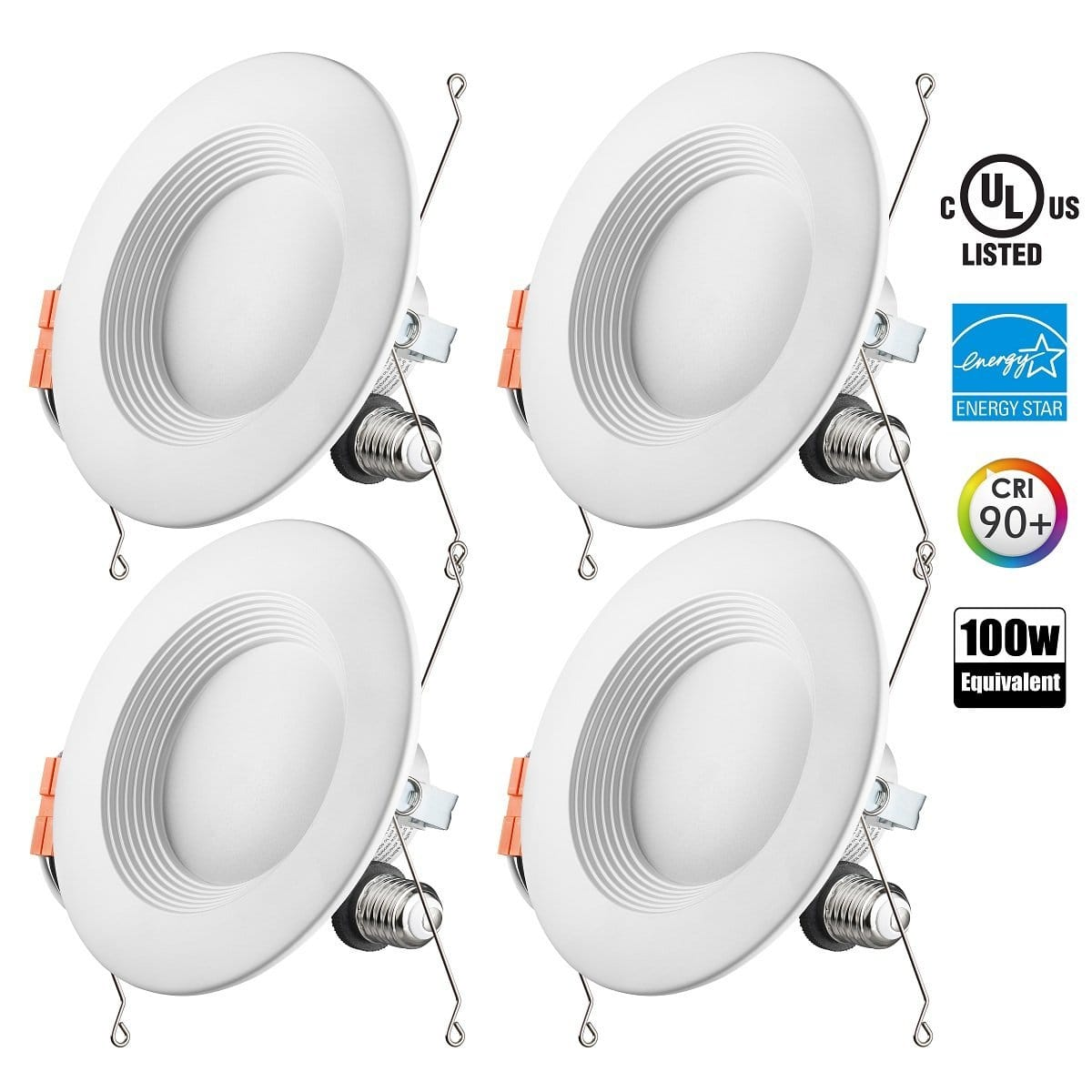 Otronics 4 - Pack 5-6 inch Dimmable 15W, 1100 Lumens LED lights $26.50