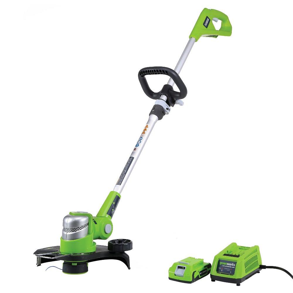 target greenworks cordless G-24 24V trimmer $34.98