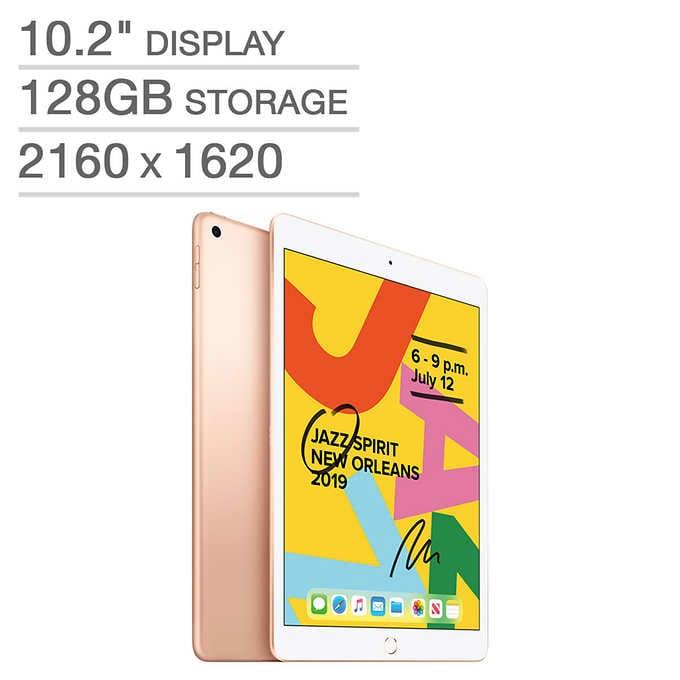 Costco: 7th Gen Apple iPad A10 Fusion Chip 128GB - Gold $329.99