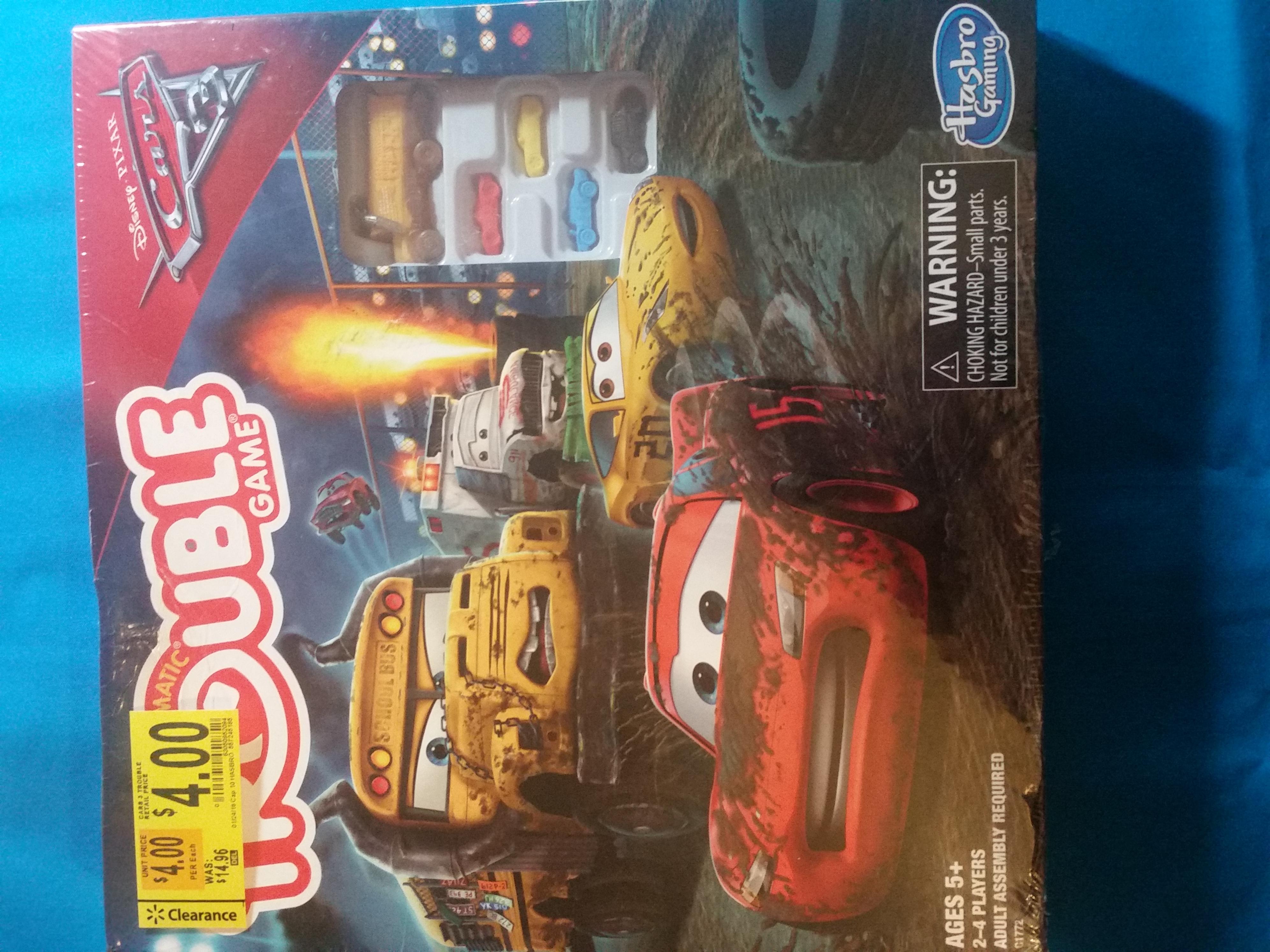 YMMV Walmart Disney Cars Pickem Up Game  2.50 and Disneys Cars Trouble Game 4.00, Doggie Doo Game 3.50