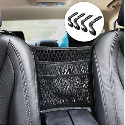 Car Organizer, 3-layer with 4 Headrest Hooks and 2 Carabiners + FS $11.19
