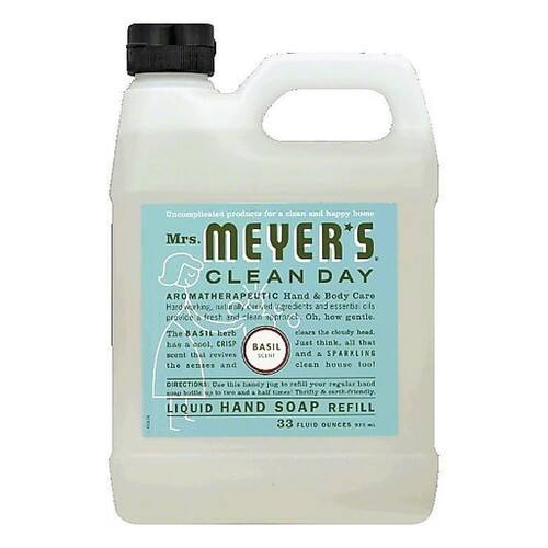 Mrs Meyer's Clean Day Liquid Hand Soap Refill, Basil Scent, 33 oz $7.29 @ Staples for delivery only