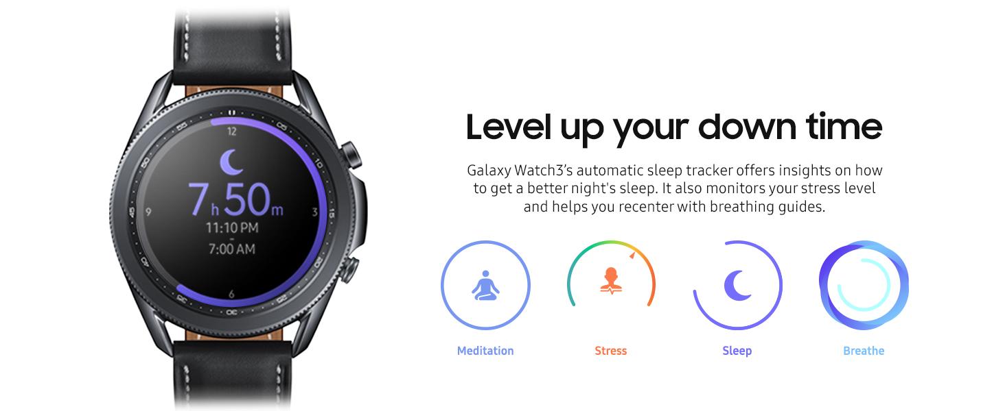 Samsung Galaxy Watch 3 (45mm, GPS, Bluetooth) Mystic Black $369