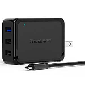 Tronsmart Quick Charge 2.0 42W 3-Port USB Wall Charger + 6' Micro USB Cable- $8.50 AC + FSSS