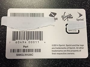 Ringplus compatible Sprint SIM (SIMGLW426C) card @ Bestbuy $2.99 - B&M only