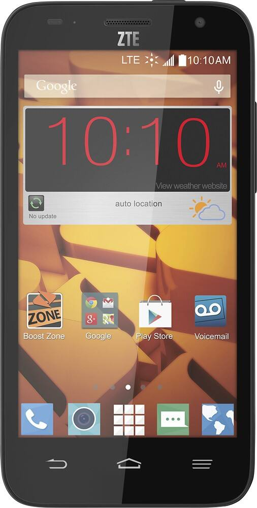 Boost Mobile - ZTE Speed 4G No-Contract Cell Phone - Black $10 @ Bestbuy