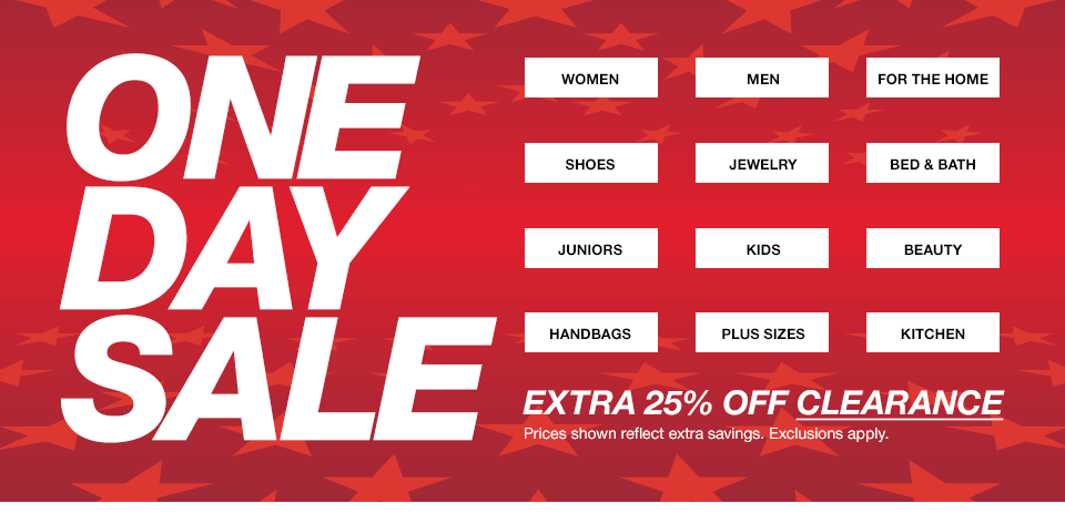 One Day Sale @ Macys