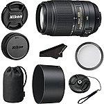 Nikon 55-300mm f/4.5-5.6G ED VR AF-S DX Nikkor Zoom Lens for Nikon Digital SLR- Import Model with filter cap keeper and cloth 218.95 shipped