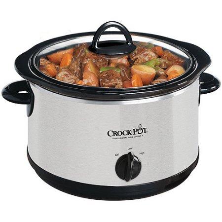 Crock-Pot 4-Quart Round Slow Cooker (Silver) for $9.50 @Walmart