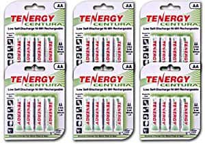 Tenergy Centura Low Self-Discharge NiMH Rechargeable Batteries 24xAA for $24.99 + FSSS