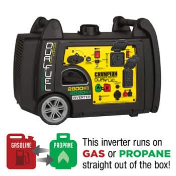 (Starting 9/1) Costco.com Champion DUAL-FUEL 2800wt Running / 3100wt Peak Digital Inverter Generator $849 AC