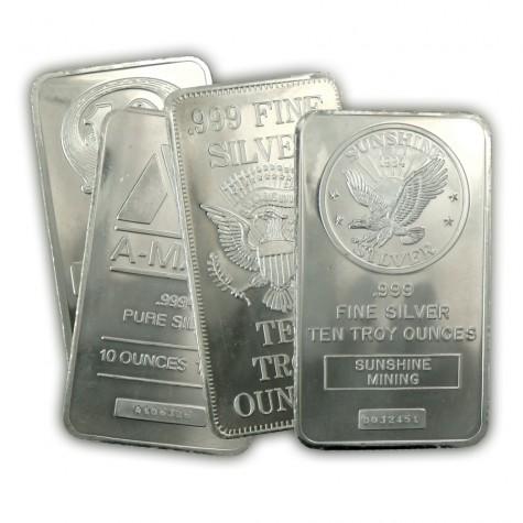 10oz silver bar at spot price. Free s/h $169