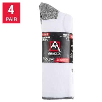 Avalanche Men's Crew Sock, 4-pair - $5