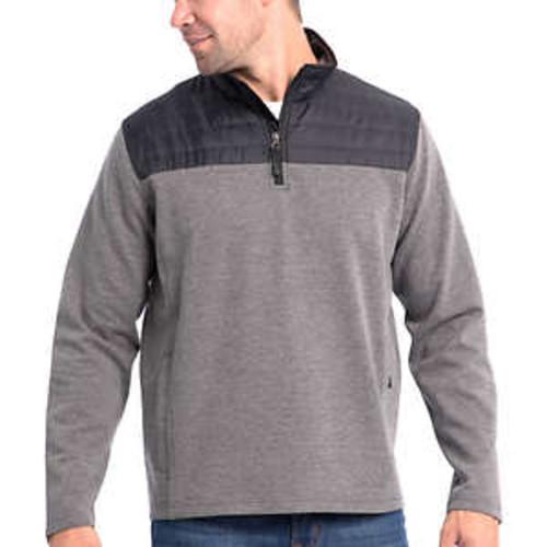 Costco Members: Eddie Bauer Men's Mixed Media ¼ Zip Pullover (various colors) $5