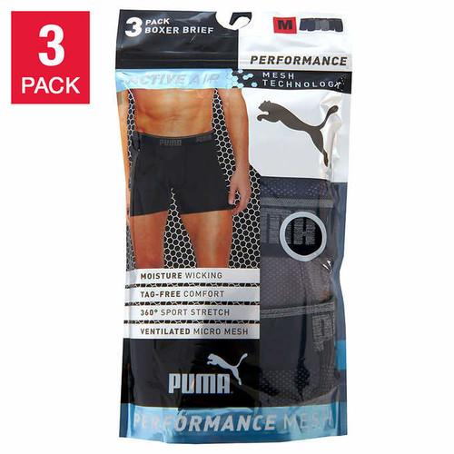 Costco: Puma Men's Mesh Boxer Brief, 3-pack