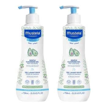 Mustela Gentle Baby Cleansing Gel, 25.35 fl oz, 2-pack - $27