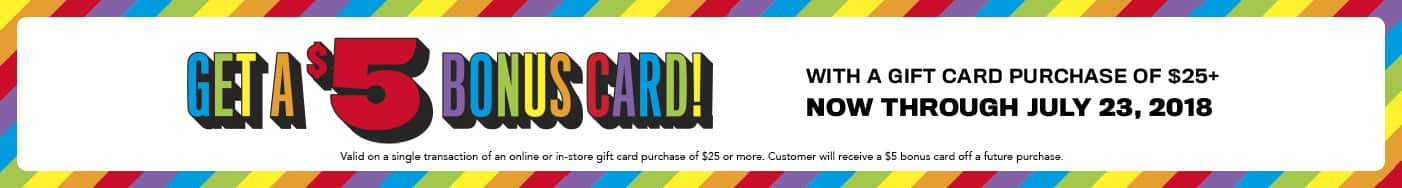 Childrensplace - Get a $5 Bonus Gift card with purchase of $25 GC