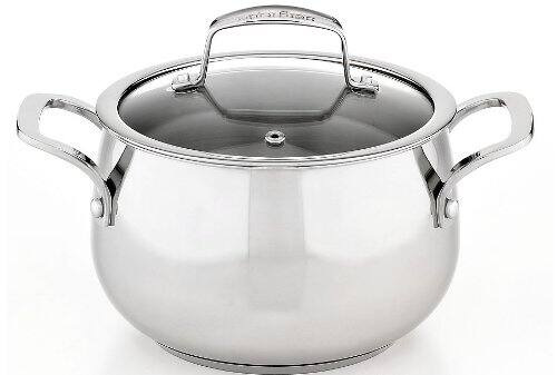 Stainless Steel 3-Qt. Soup Pot with Lid $7 Macys AR AC