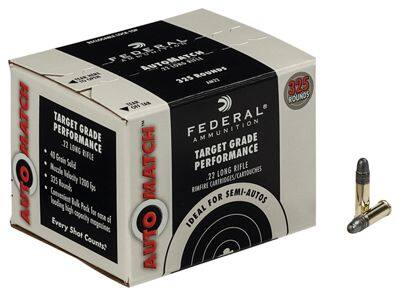 Federal Automatch .22 ammo. (40 grain, 325 rounds per box) $19.99 each limit 5 Free Shipping past $75.00 @ Basspro.com