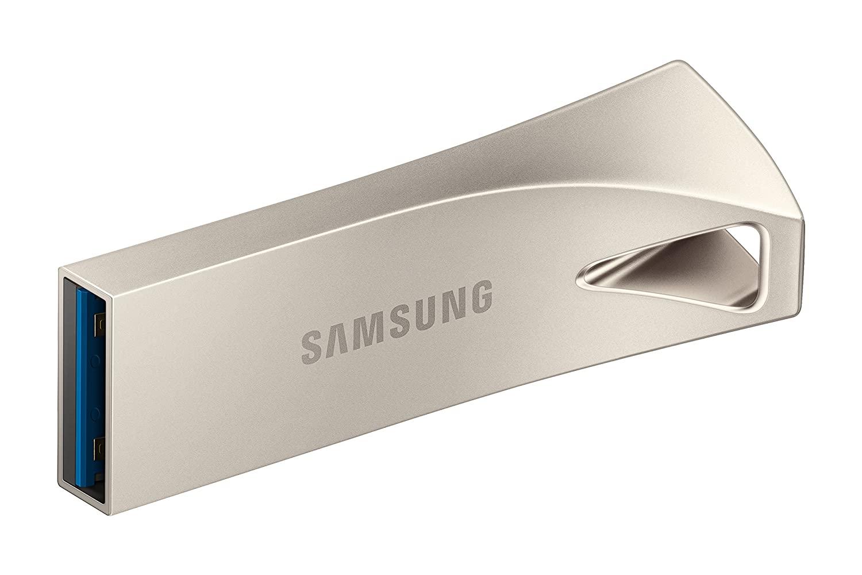 Samsung BAR Plus USB 3.1 Flash Drive 128GB - 300MB/s (MUF-128BE3/AM) - Champagne Silver $18.99