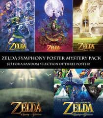 The Legend of Zelda: Symphony of the Goddesses Tour - 3 Posters for $25 + Shipping