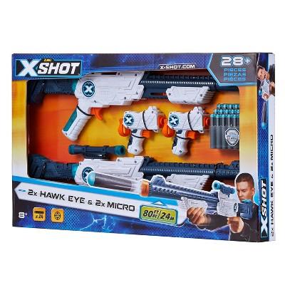 Zuru Xshot Excel Micro and Scope Dart Blaster (2 x Hawkeye + 2 x Micro Blaster) with 24 Darts $7.5