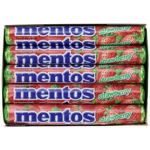 15-Pack 1.32oz Mentos Rolls (Strawberry) $7.68
