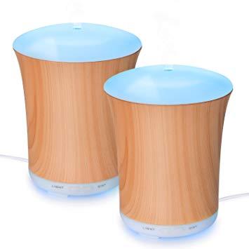 2 Pack Zookki 200ml Wood Grain Ultrasonic Aromatherapy Diffuser - $10.79 @Amazon