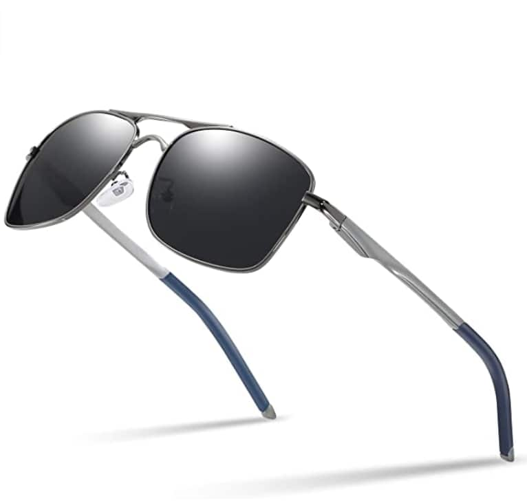 Polarized Aviator Sunglasses For Men with Metal Frame $7.5 at Amazon