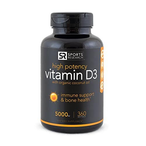 360 counts Sports Research Vitamin D3 $8.87 by Subscribe & Save + FS over $25 + Money Back Guarantee