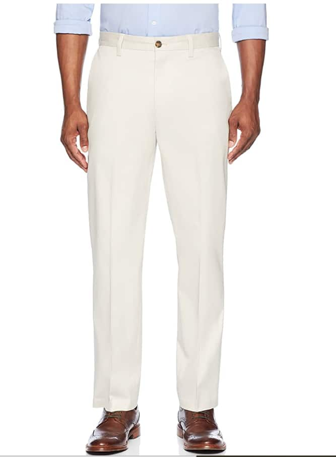 Buttoned Down Men's Relaxed Fit Flat Front Non-Iron Dress Chino Pant, Stone color, 32W x 32L $3.69