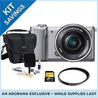 Adorama Deal: Sony Alpha A5000 Mirrorless Digital Camera with 16-50mm E-Mount Lens Bundle - $298 Free Overnight Shipping Adorama