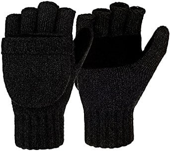 Winter Warm Wool Knitted Convertible Gloves Mittens with Mitten Cover @Amazon $7.99 + FS