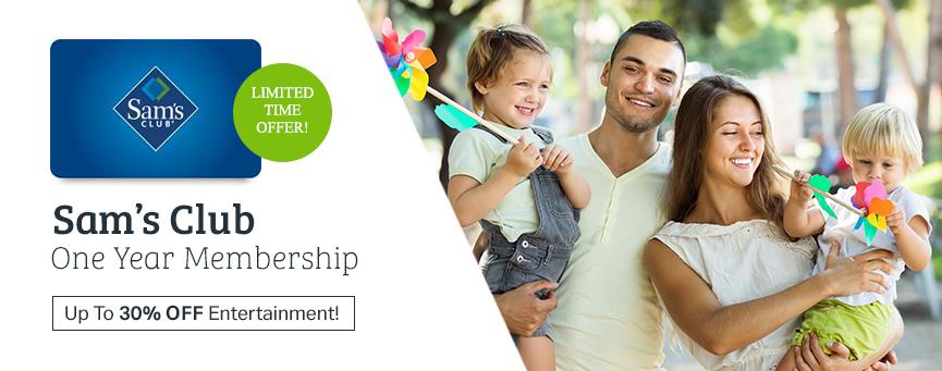 Sam's Club Membership Bundle via UPS MyChoice + $5 Sams Gift Card + 2nd Membership card $24.88